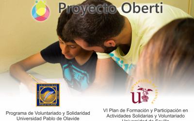 Planes de voluntariado para universitarios/as en nuestro Proyecto Oberti