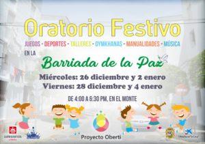 Oratorio Festivo en la barriada de la Paz por Navidad