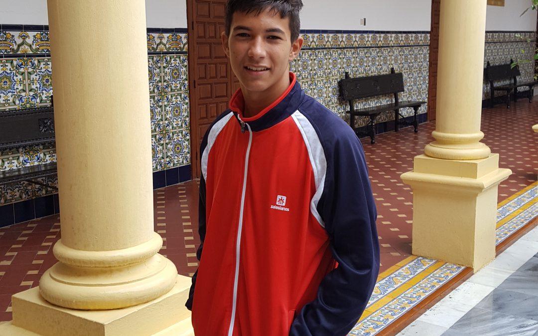 Diego Jiménez, alumno de 3º de ESO convocado por la Selección Andaluza de Futbol Sub-16