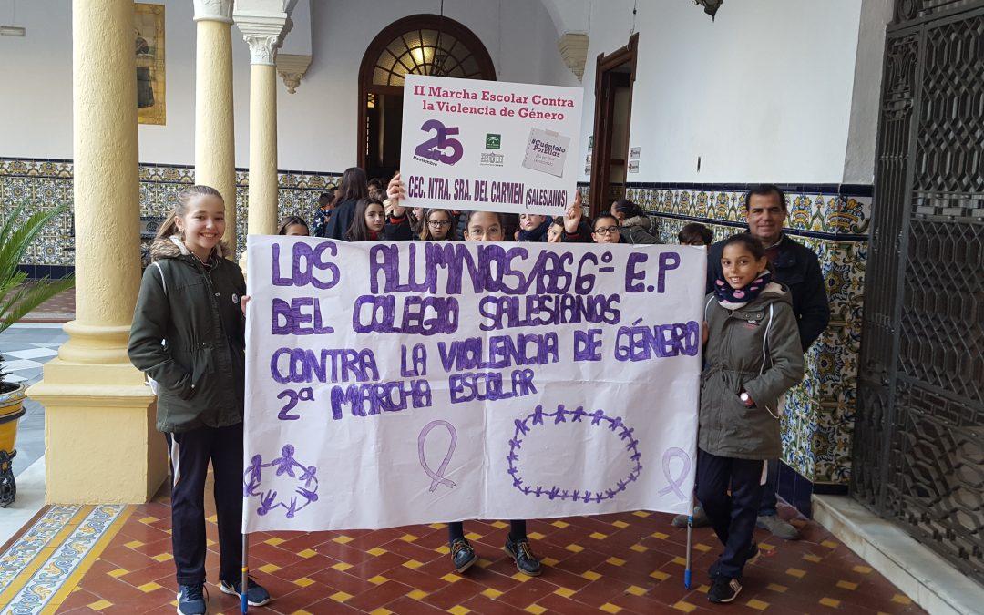 II Marcha contra la violencia de género.