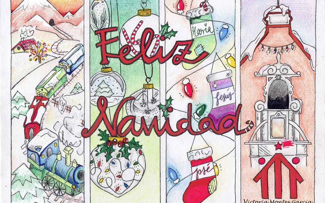 Victoria Montes García , de 4 de ESO B  ganadora del concurso de tarjetas navideñas