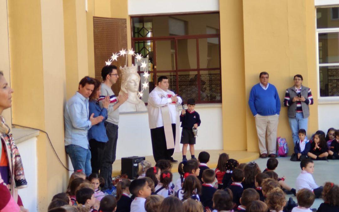 El Patio de infantil tras ser reformado recibe el nombre de María  Auxiliadora